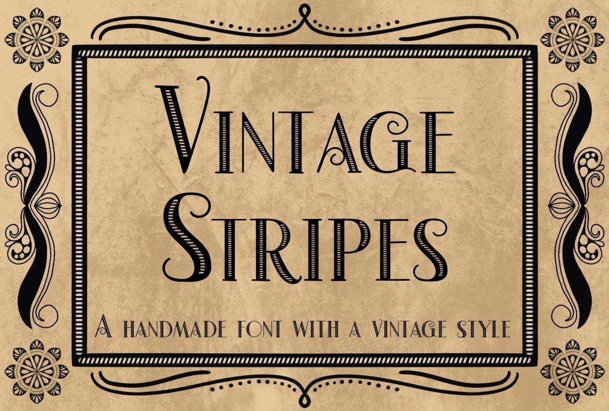 Vintage Stripes - student project