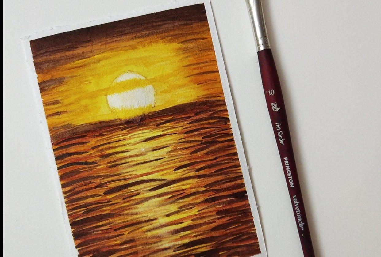 Intense Sunset Landscape - student project