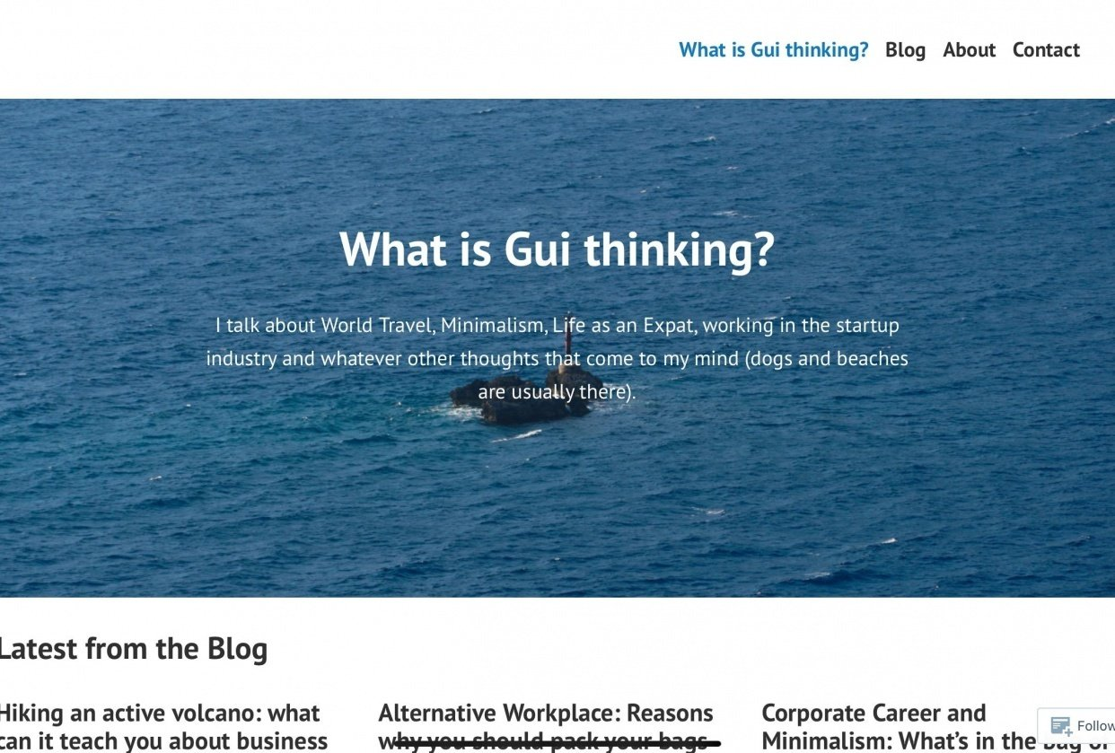 What Is Gui Thinking - https://whatisguithinking.com/ - student project