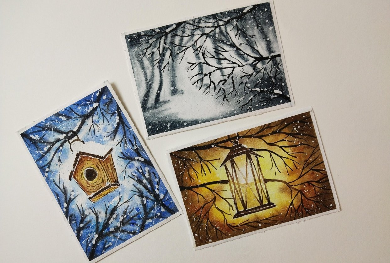 Winter Paintings - student project