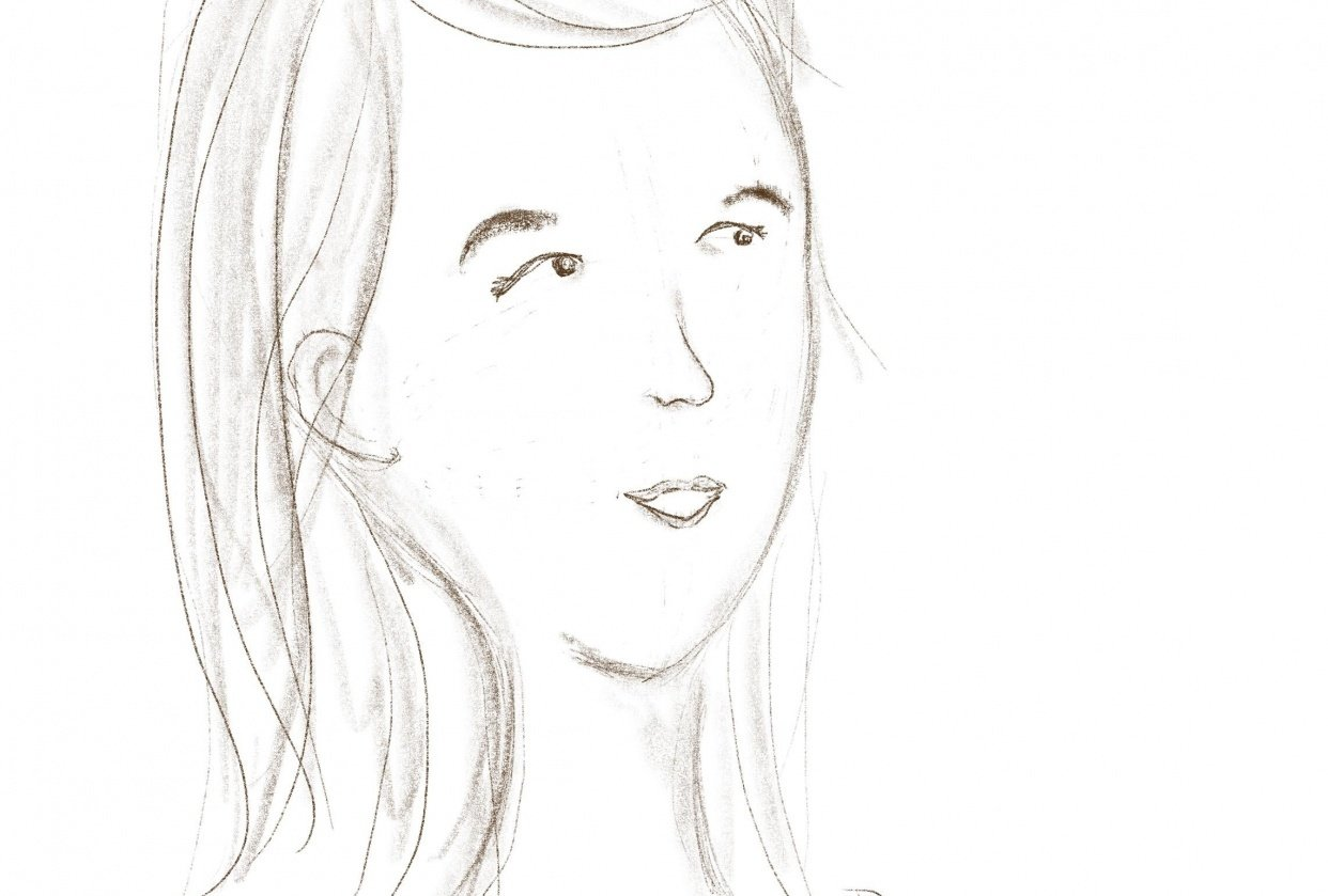First face from Annie Parson's class - student project