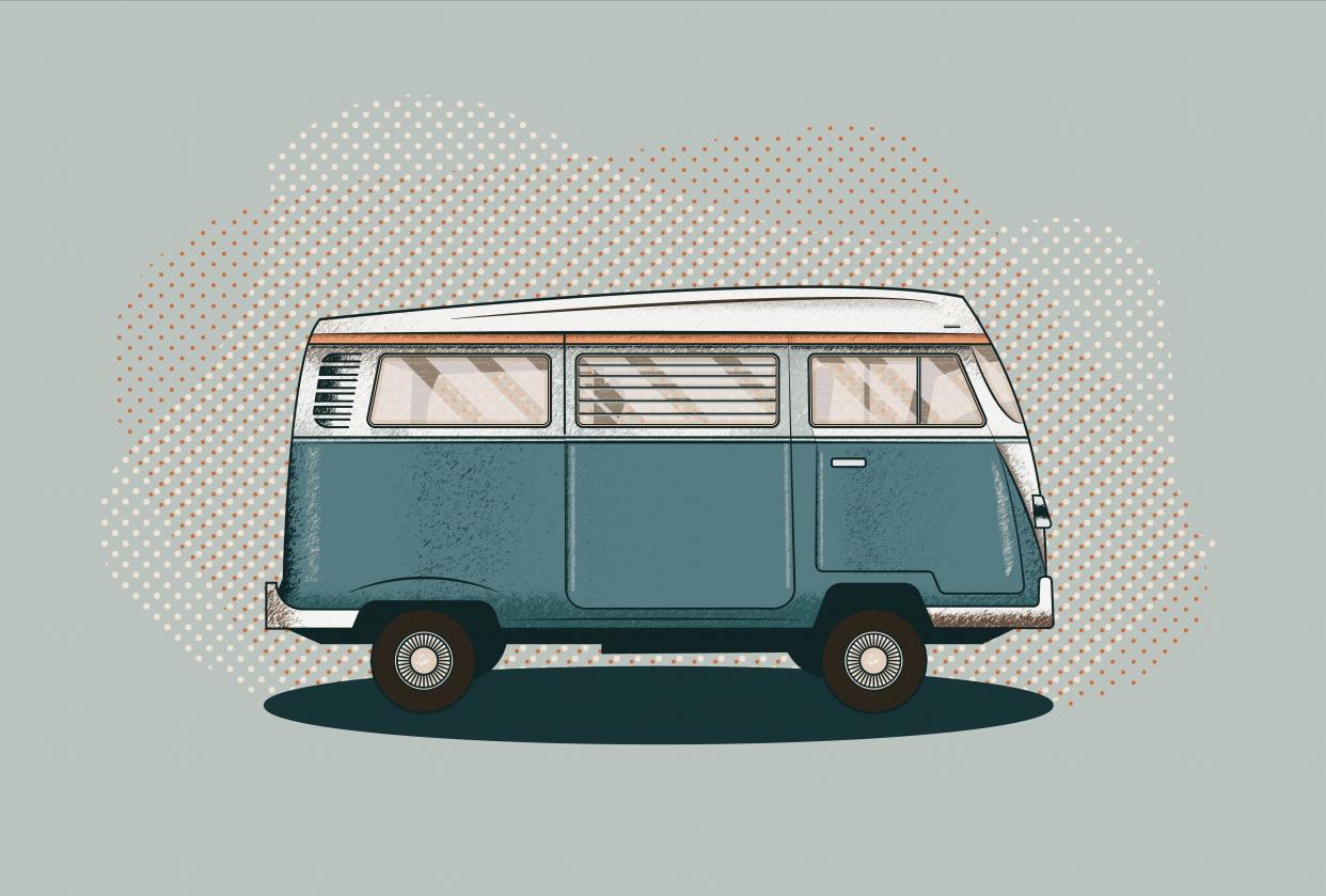 Van illustration - student project