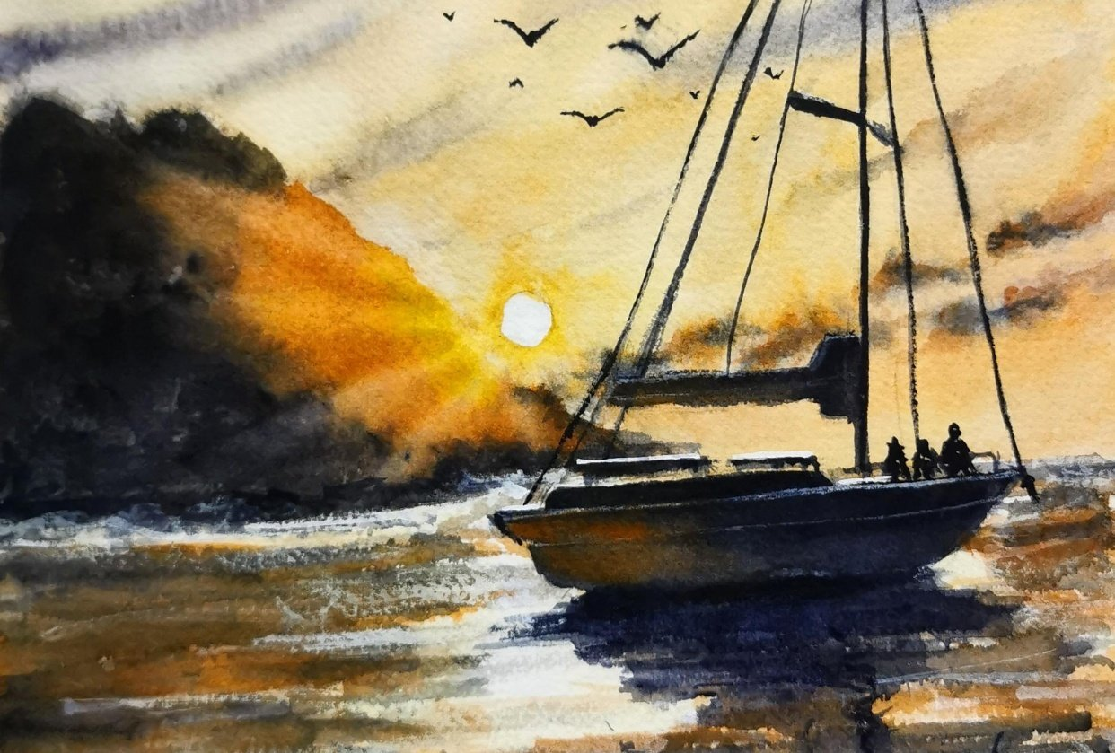 Sunset Sailing - student project