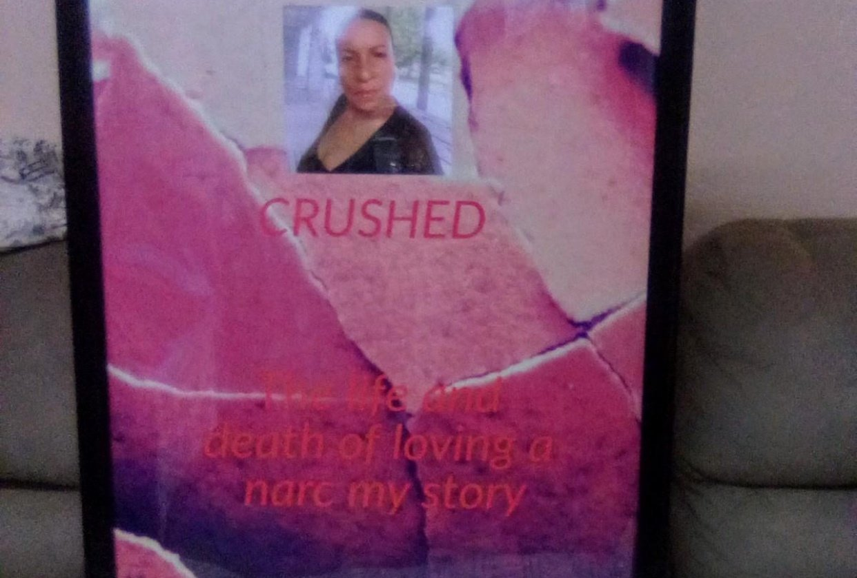Book title called CRUSHED - student project