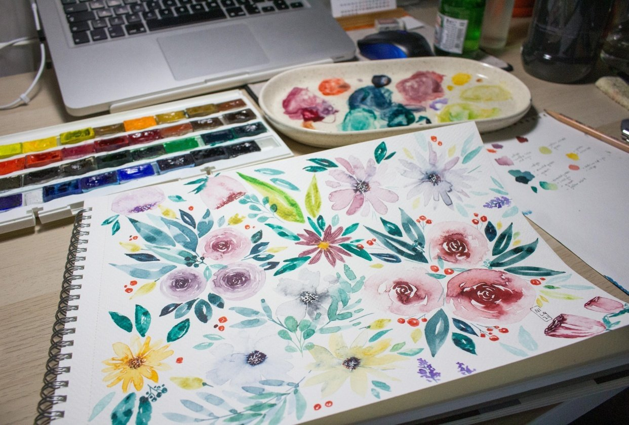 loose flowers - student project