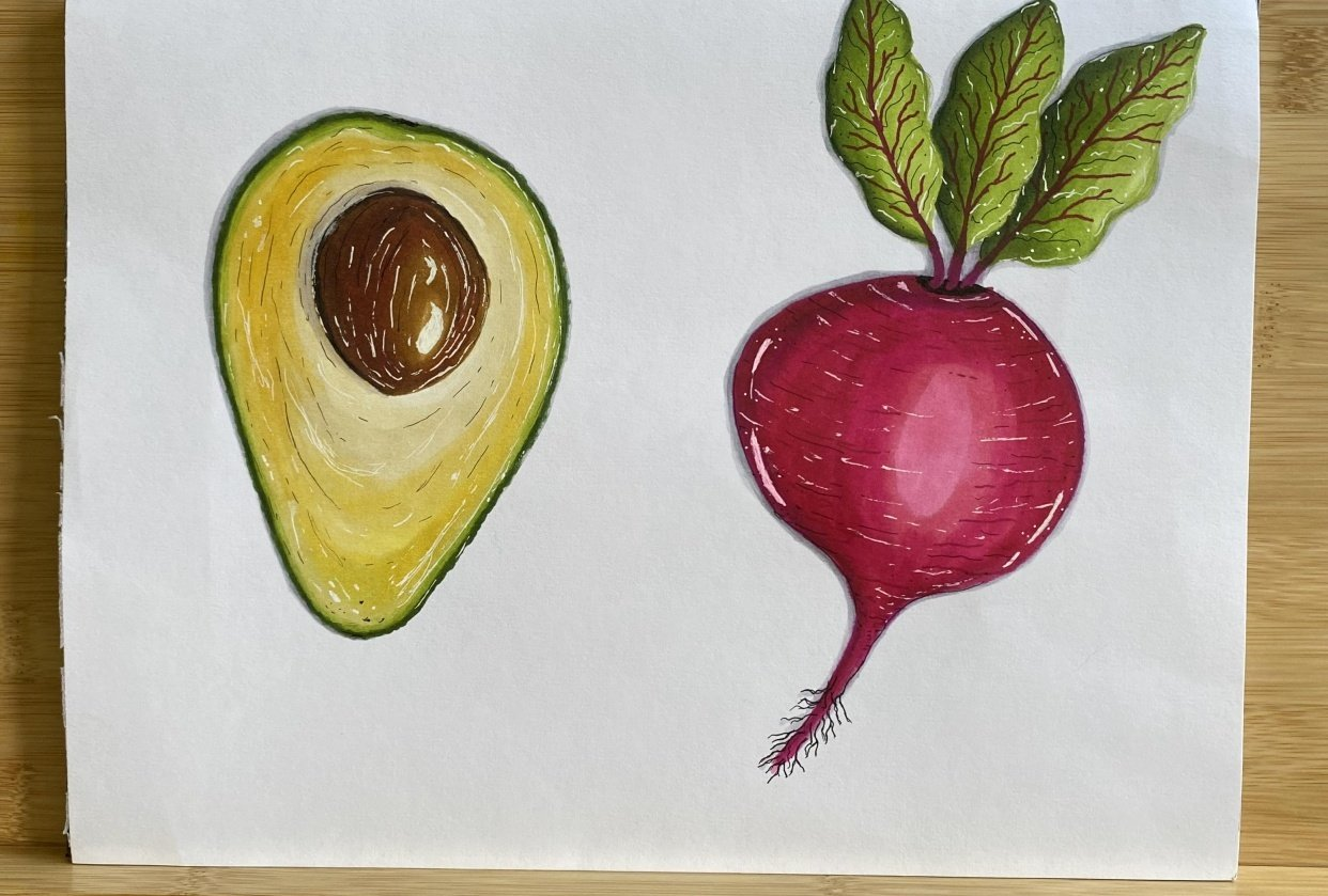 Avocado n beet - student project