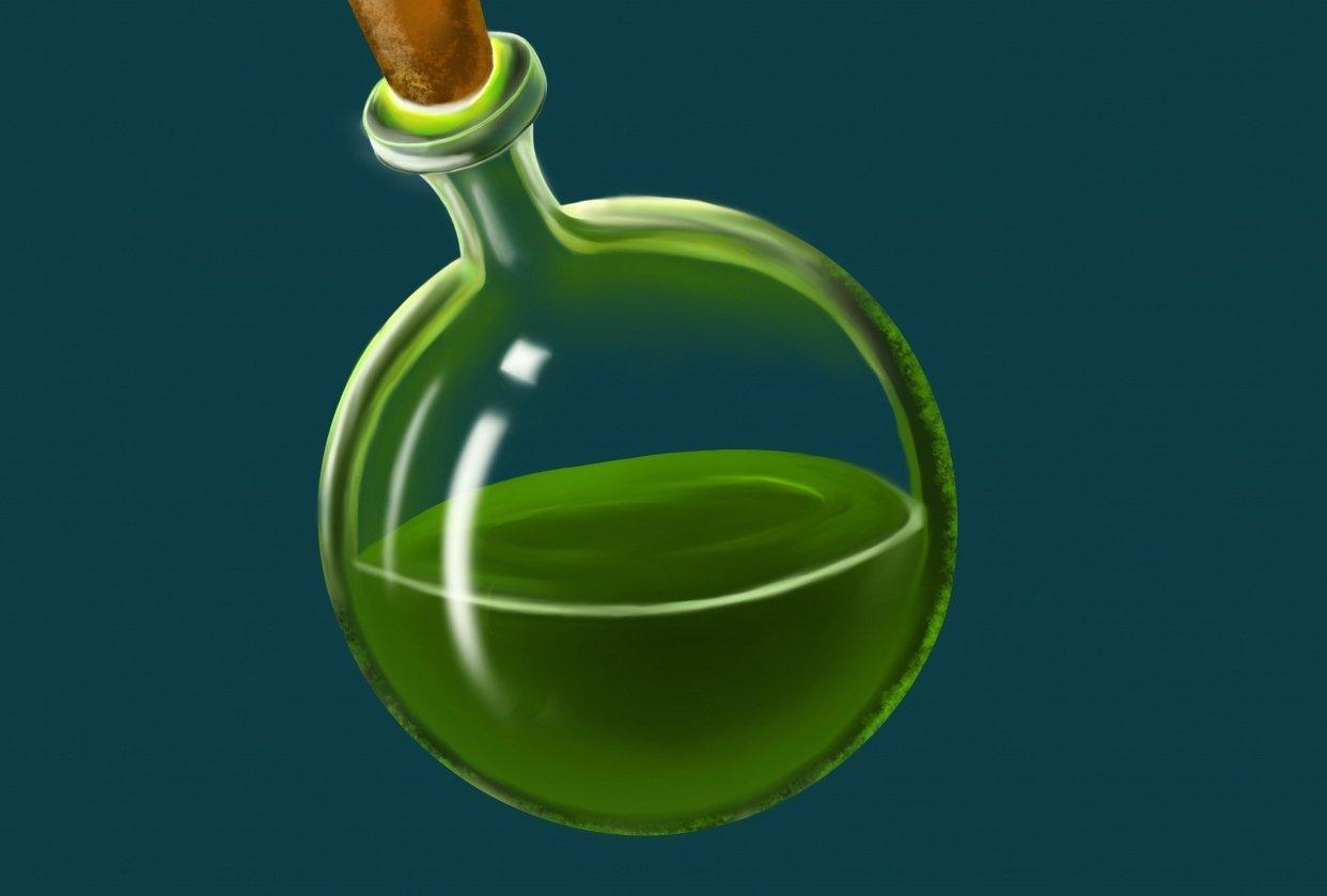 Magic Potion Bottle - student project
