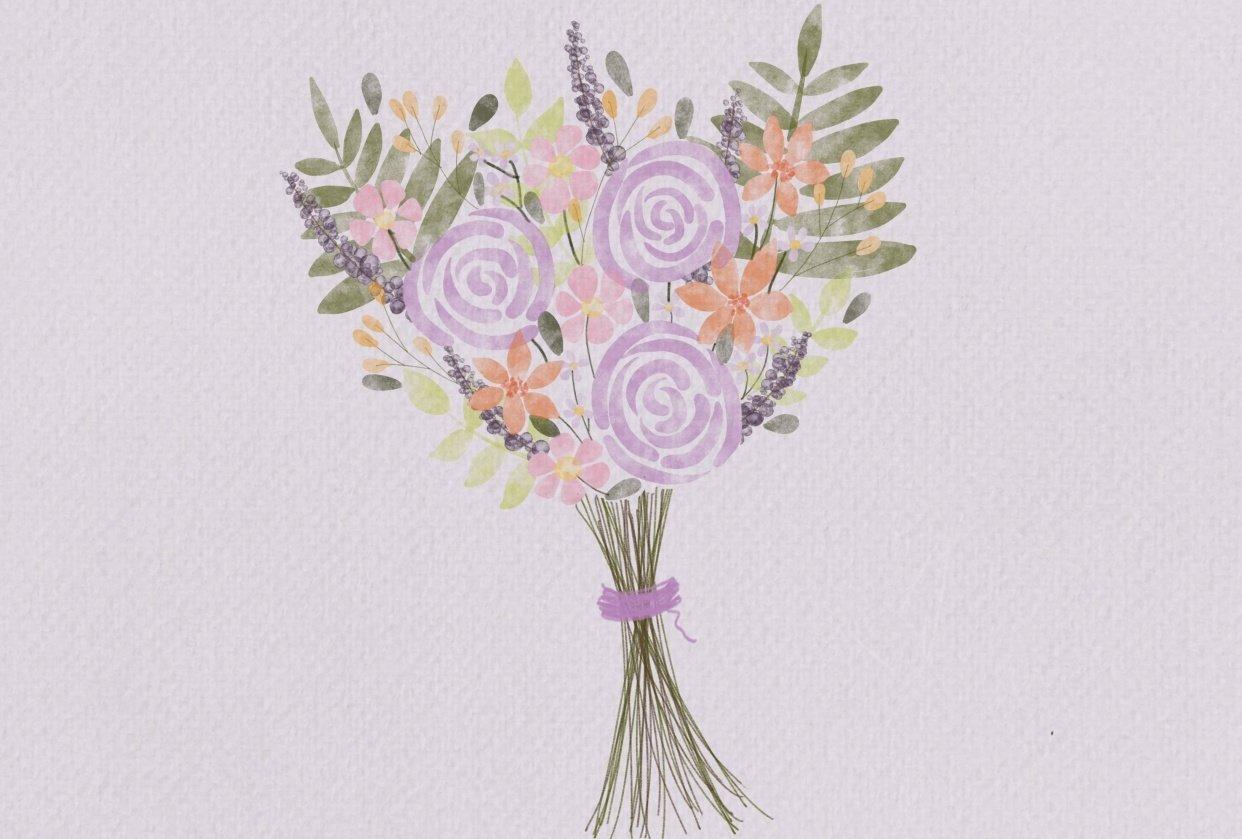 Floral Watercolor Bouquet - student project