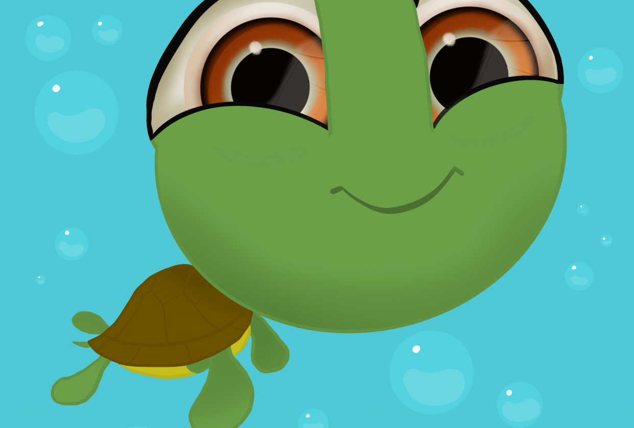 Chewy the Baby Sea Turtle - student project