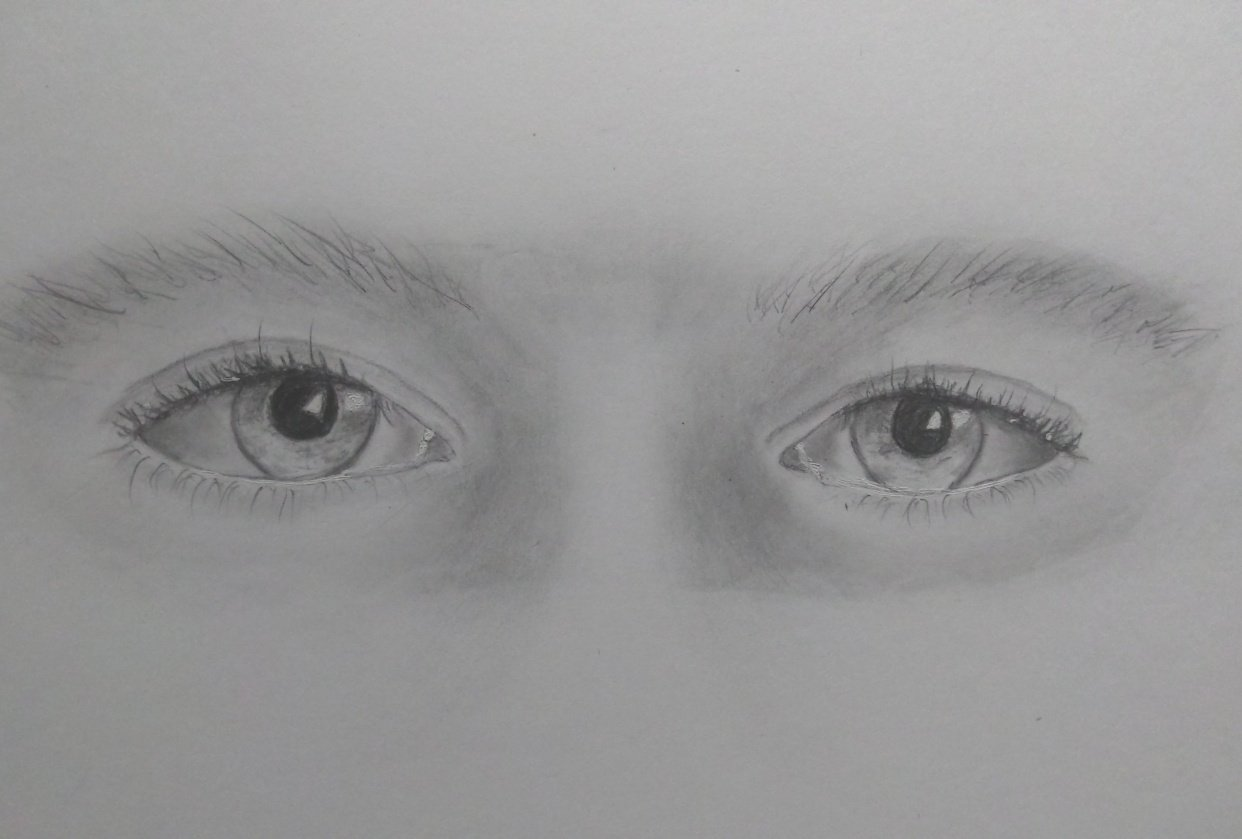 Drawing realistic eyes - student project