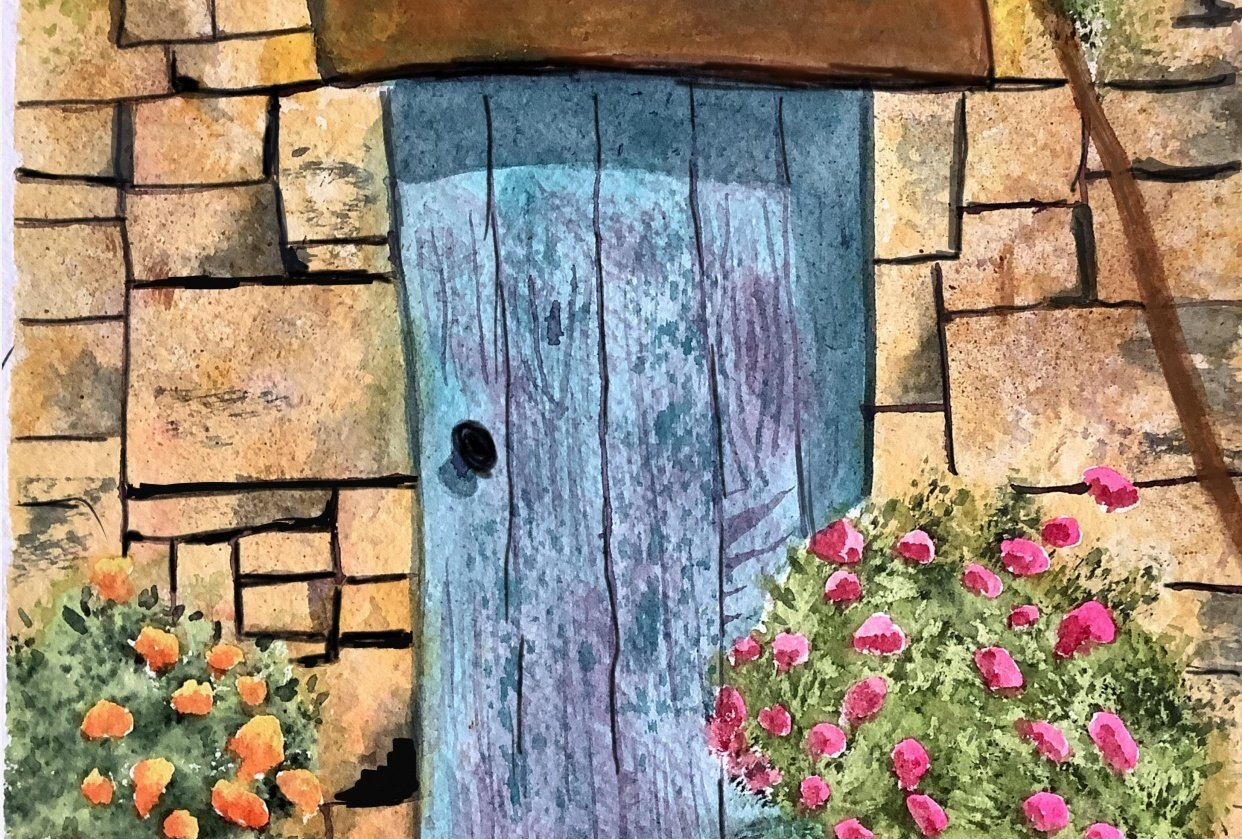 Inviting Blue Door - student project