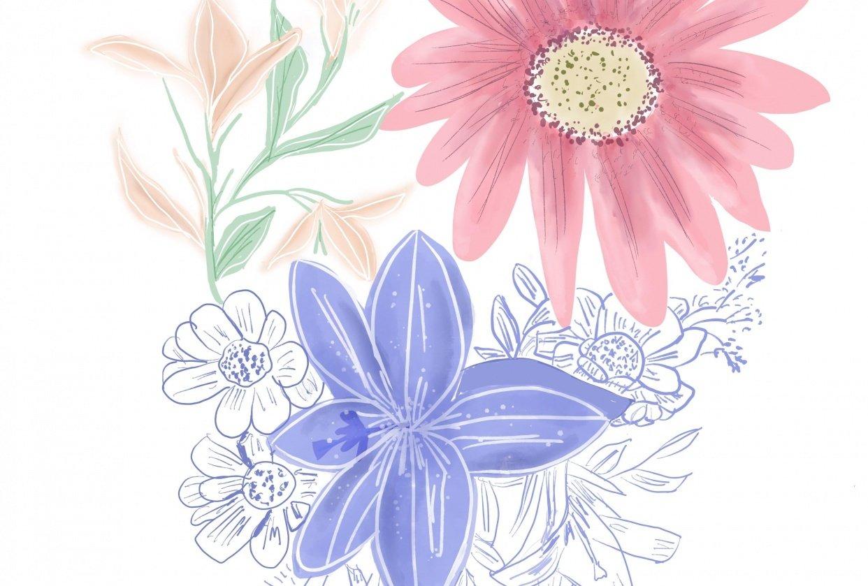 Pastel bouquet - student project