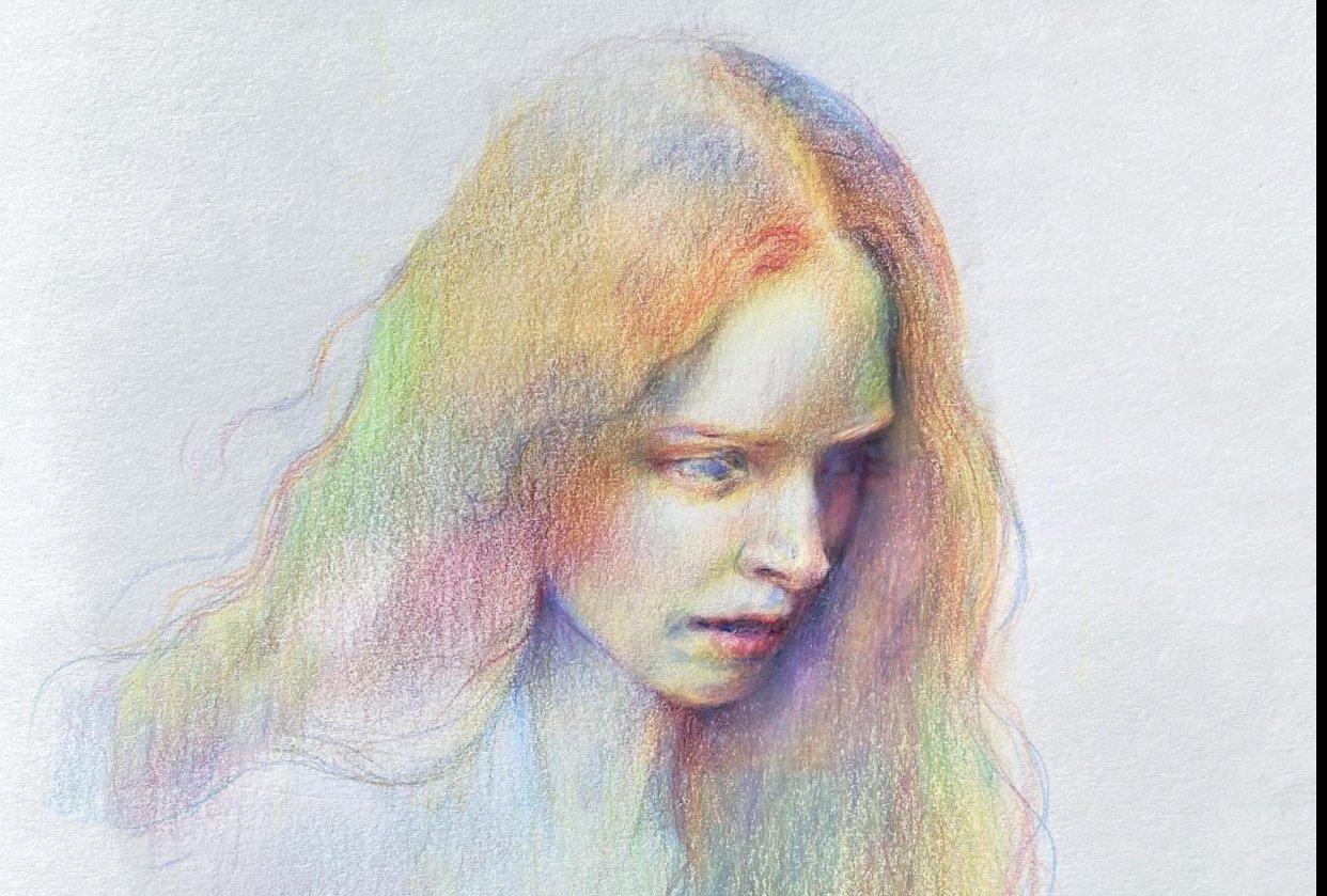 Vivid Colour Portrait - student project