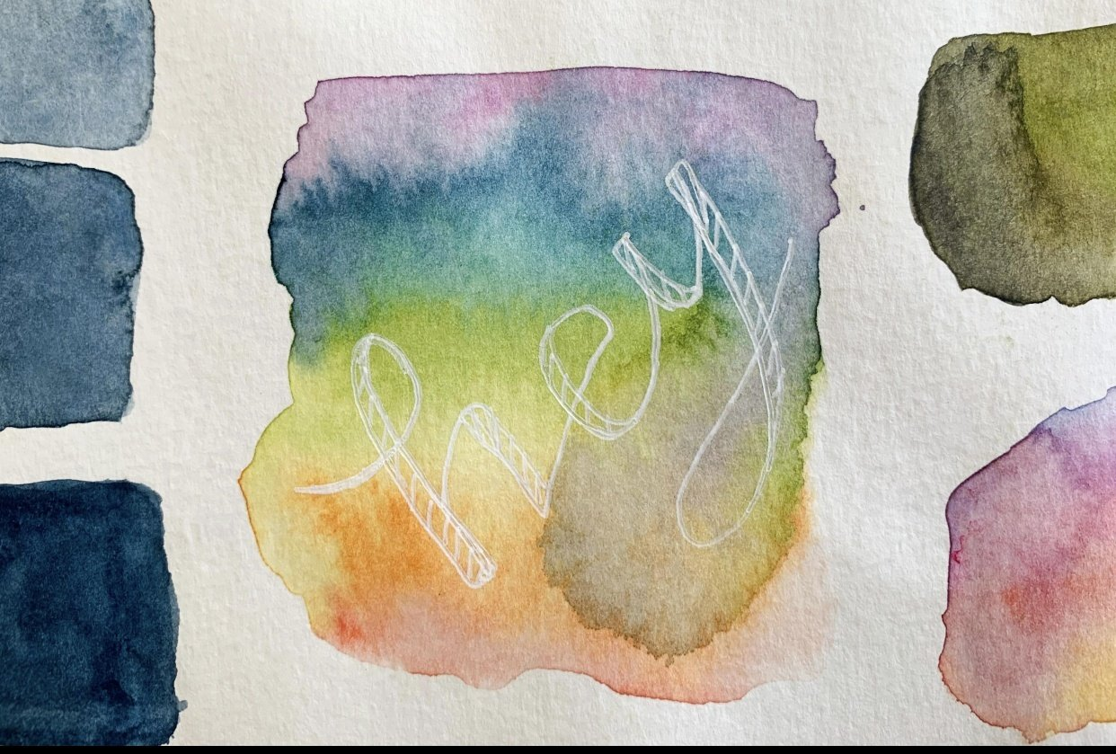 Watercolor Blooms - student project