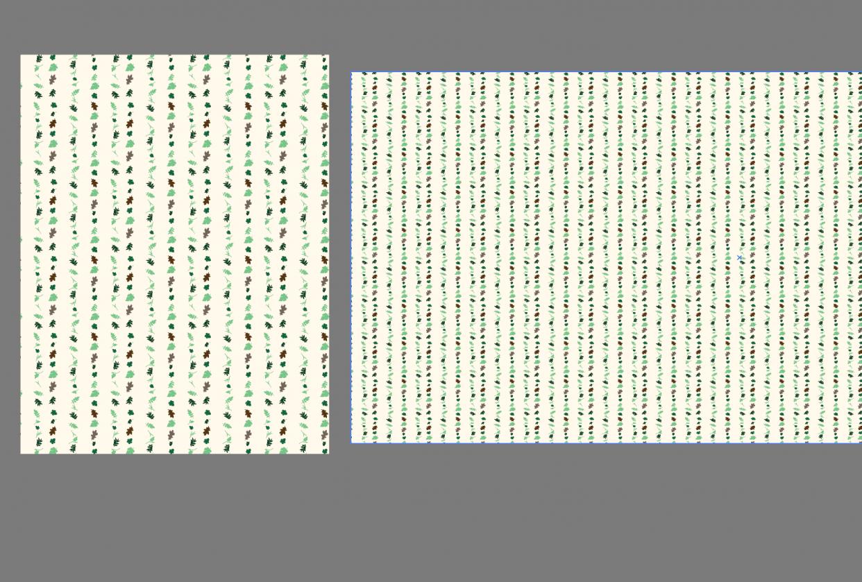 Leaf Scan Stripes - student project