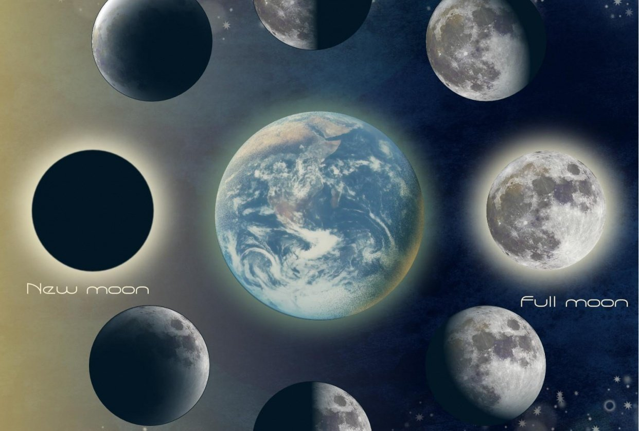 Moon phases - student project