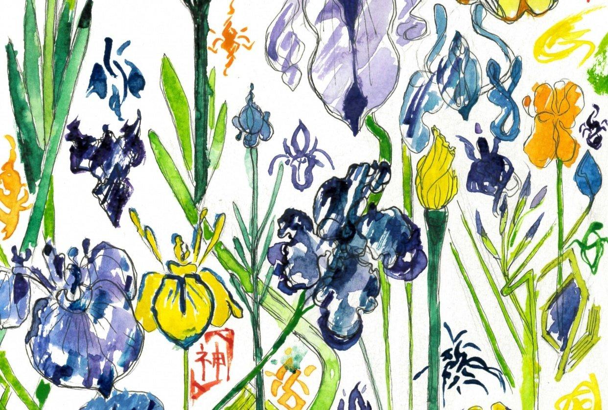 Iris Garden/ Beatriz Barrett's Watercolour Flower Painting Class ! - student project