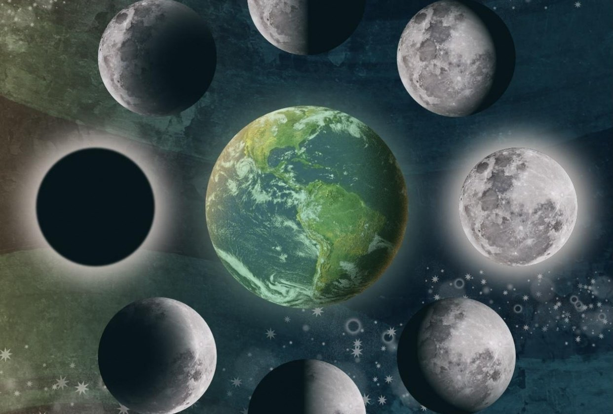 Moon phase illustration - student project