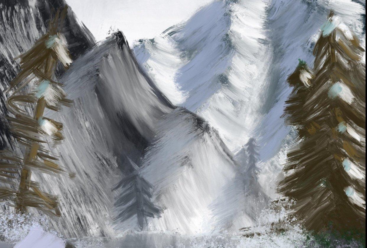Digital, Traditional, Landscape Artwork - student project