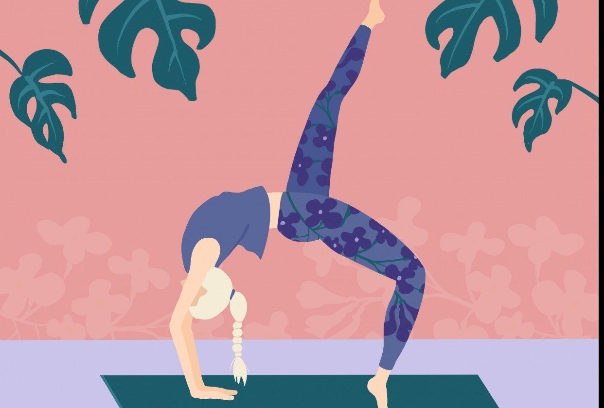 Yoga, Lilacs, Plants - student project