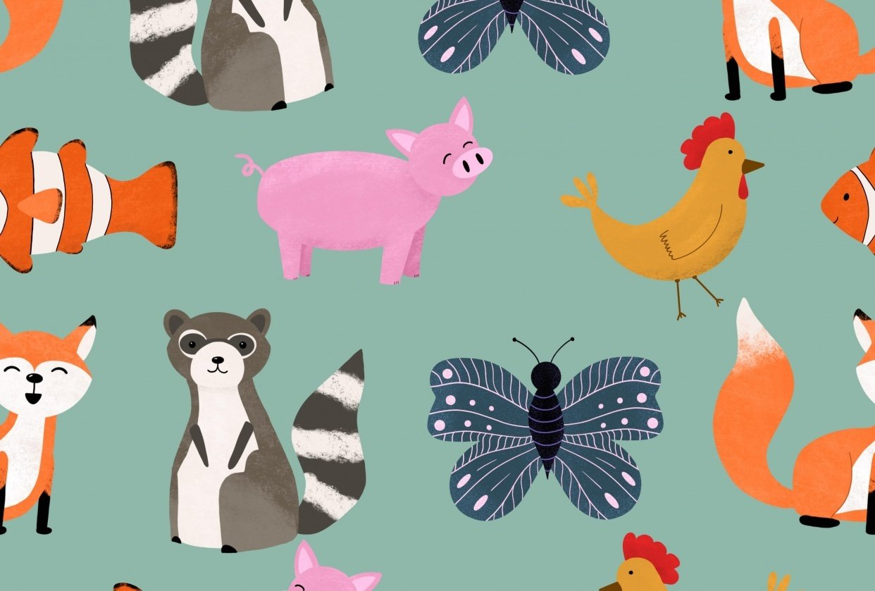 Animal Party Pattern - student project