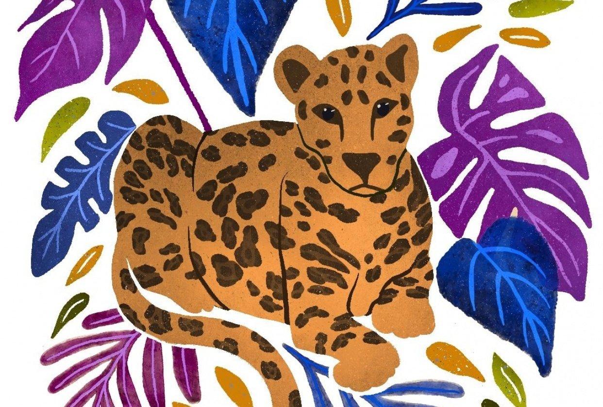 Vibrant Leopard - student project