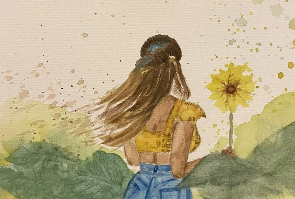 Sunflower Lady - student project