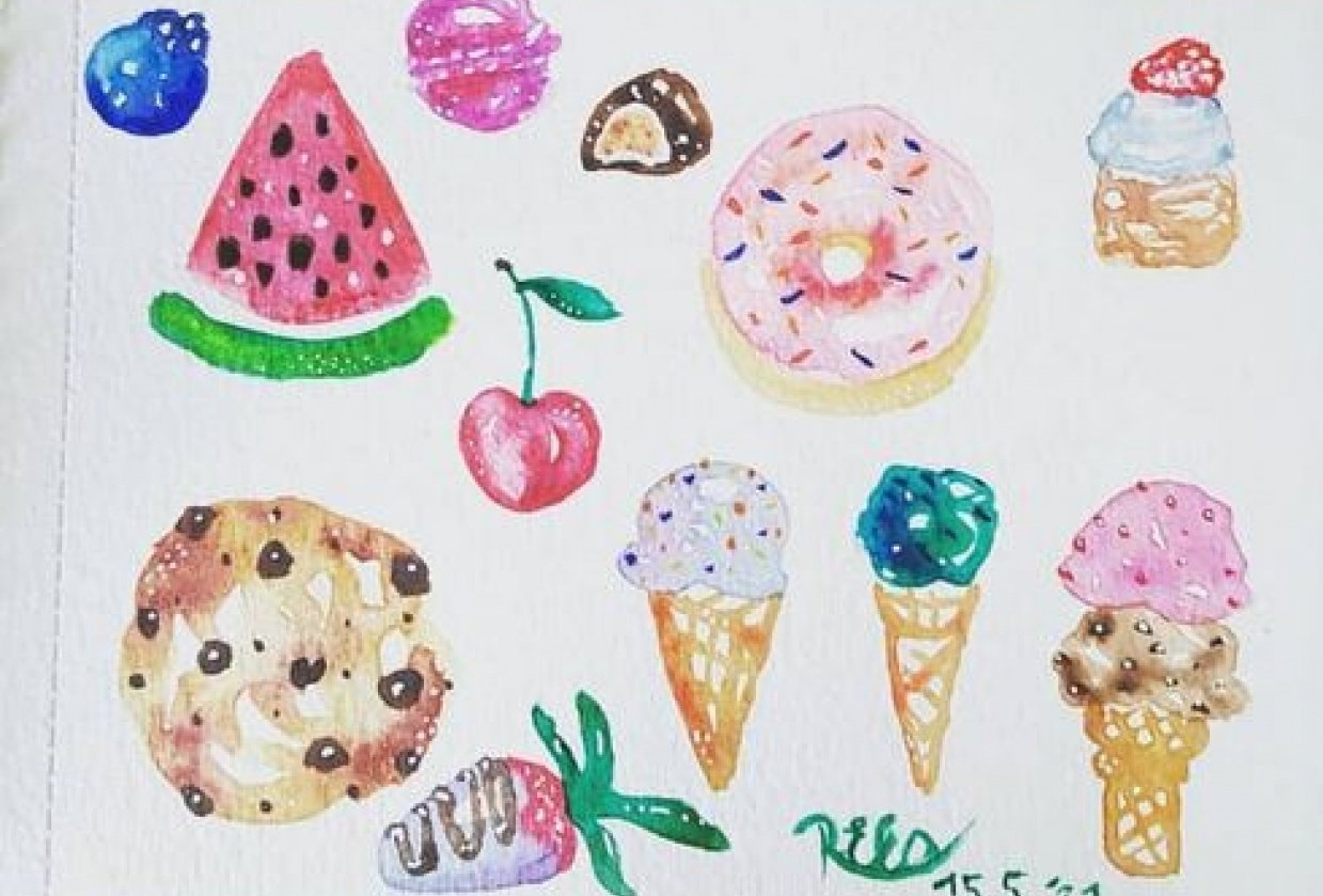 cute desserts - student project