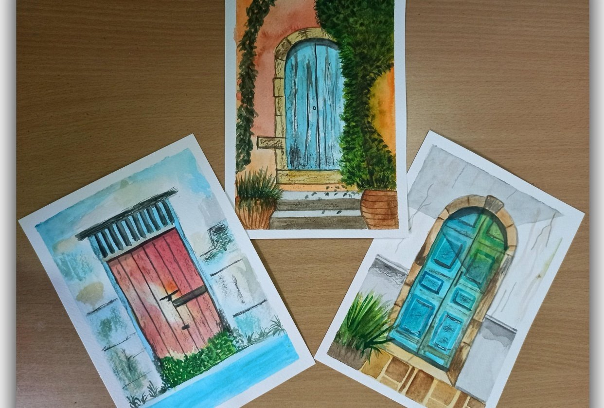 Rustic Door skillshare learning - student project