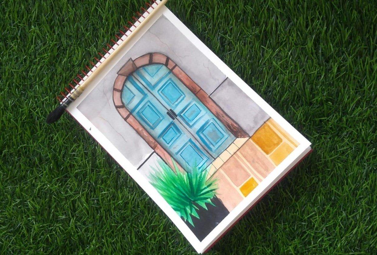 rustic doors class by that crazy doodler(vinita) - student project