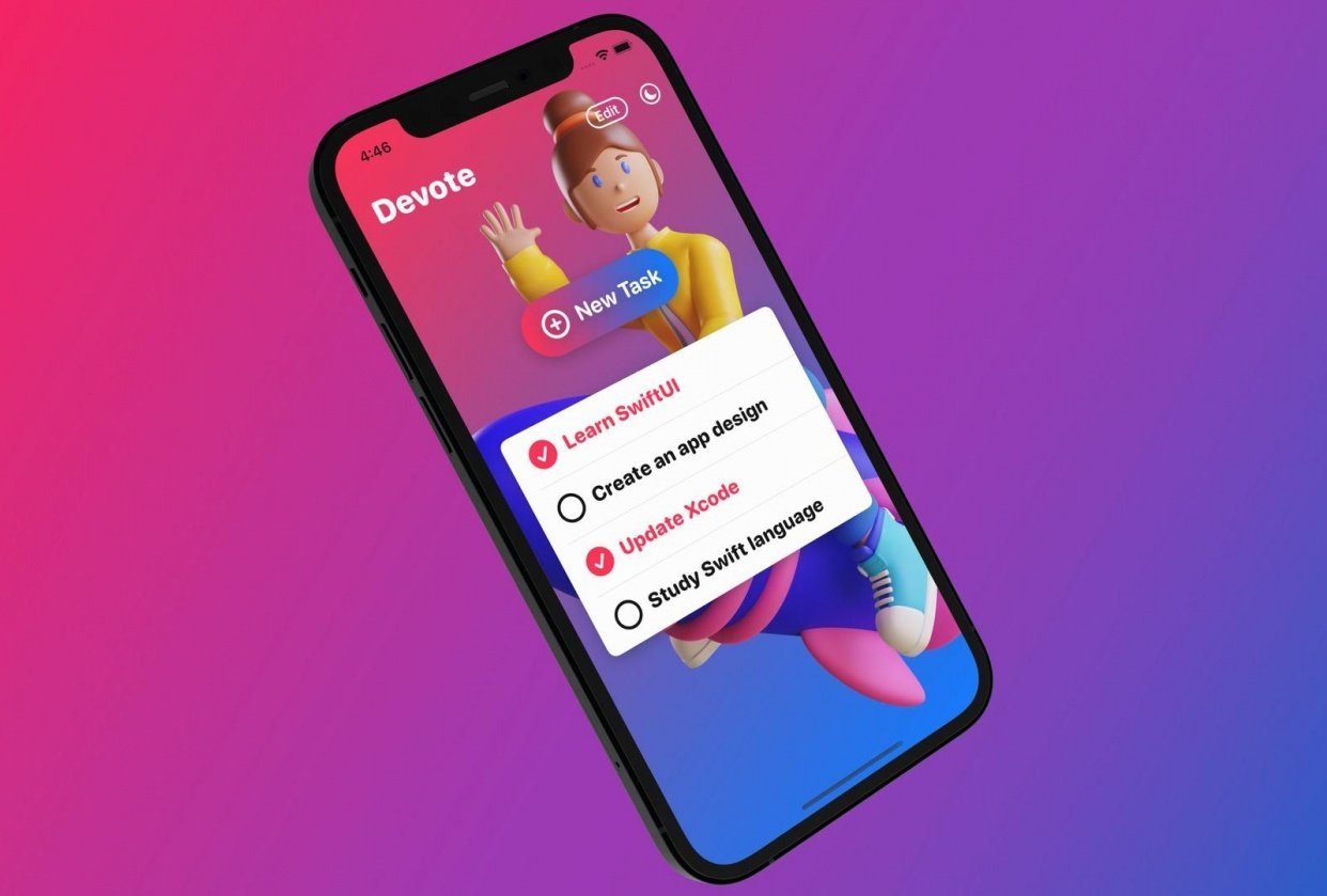 I created a to-do list iPhone app with SwiftUI - student project