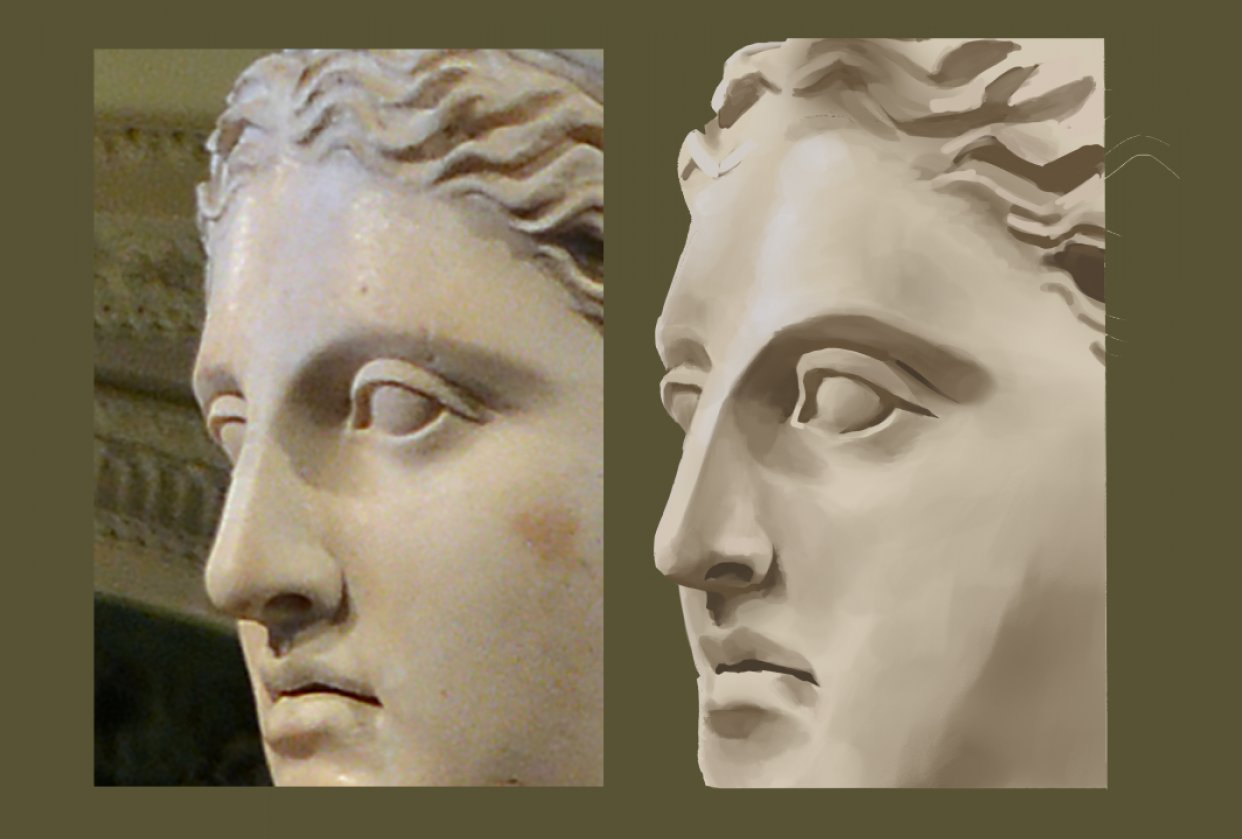 Diana of Versailles face - student project