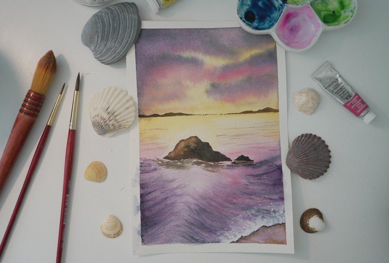 Purple sea - student project