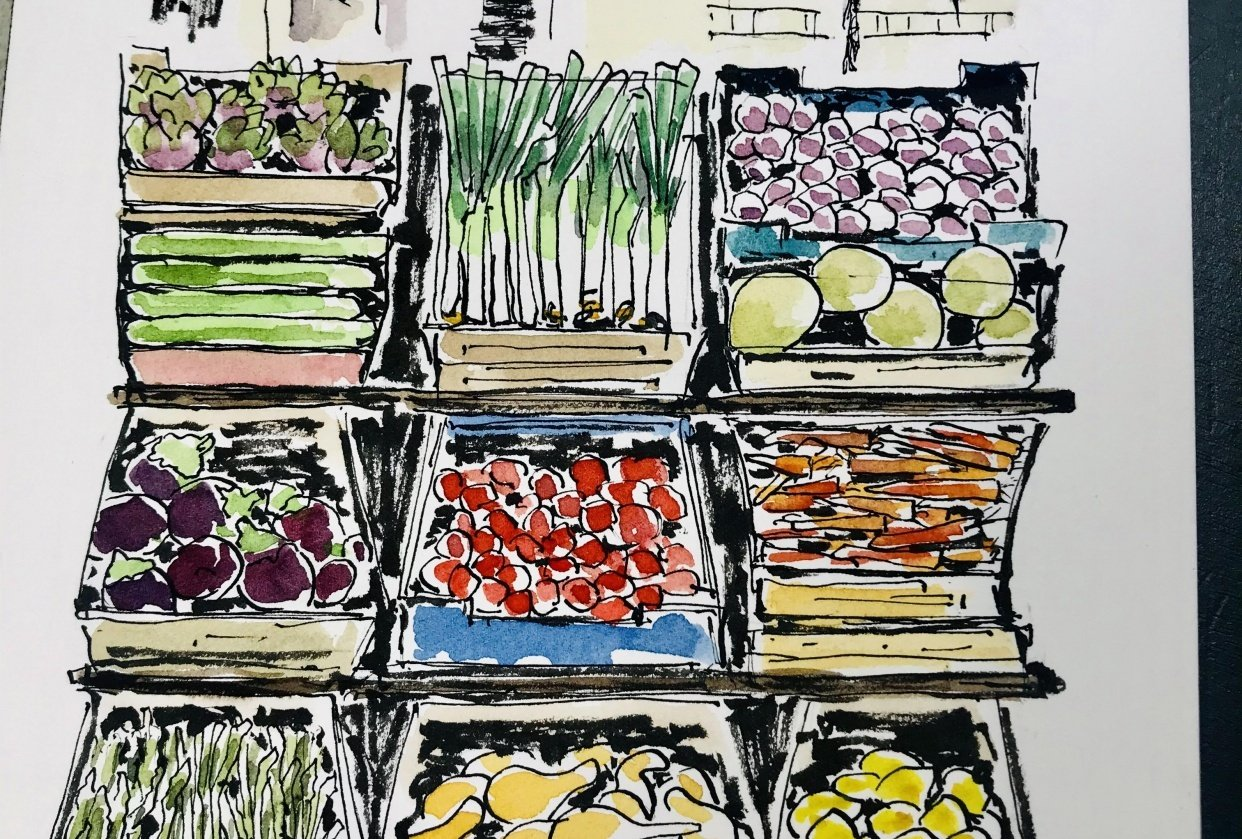 Farmers Market with Amy - student project