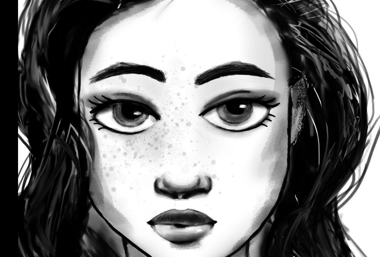 Portrait of a girl - student project