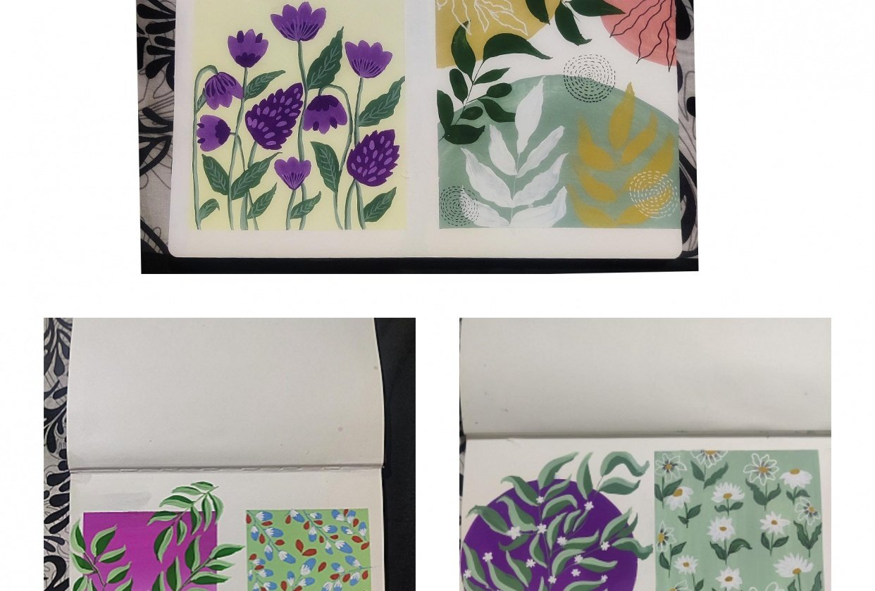 Gouache patterns - student project