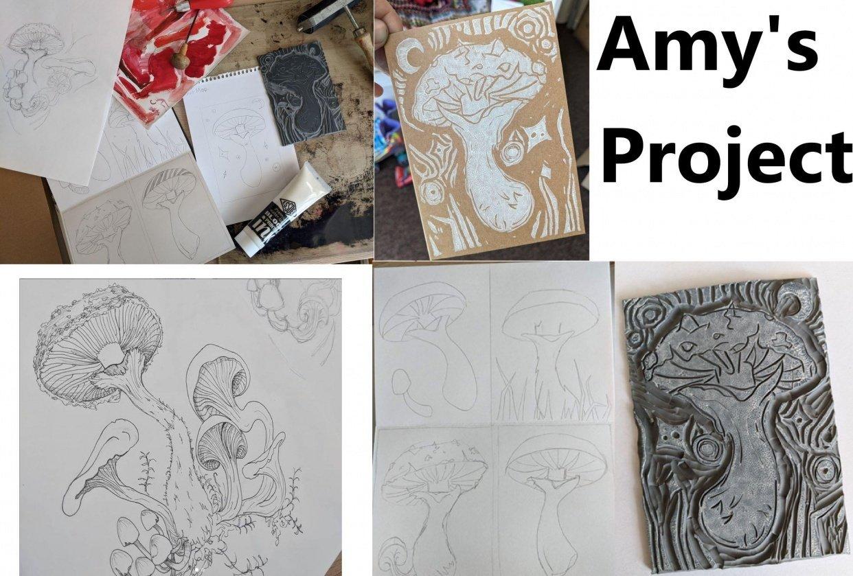 Amy's Mushroom Card - student project