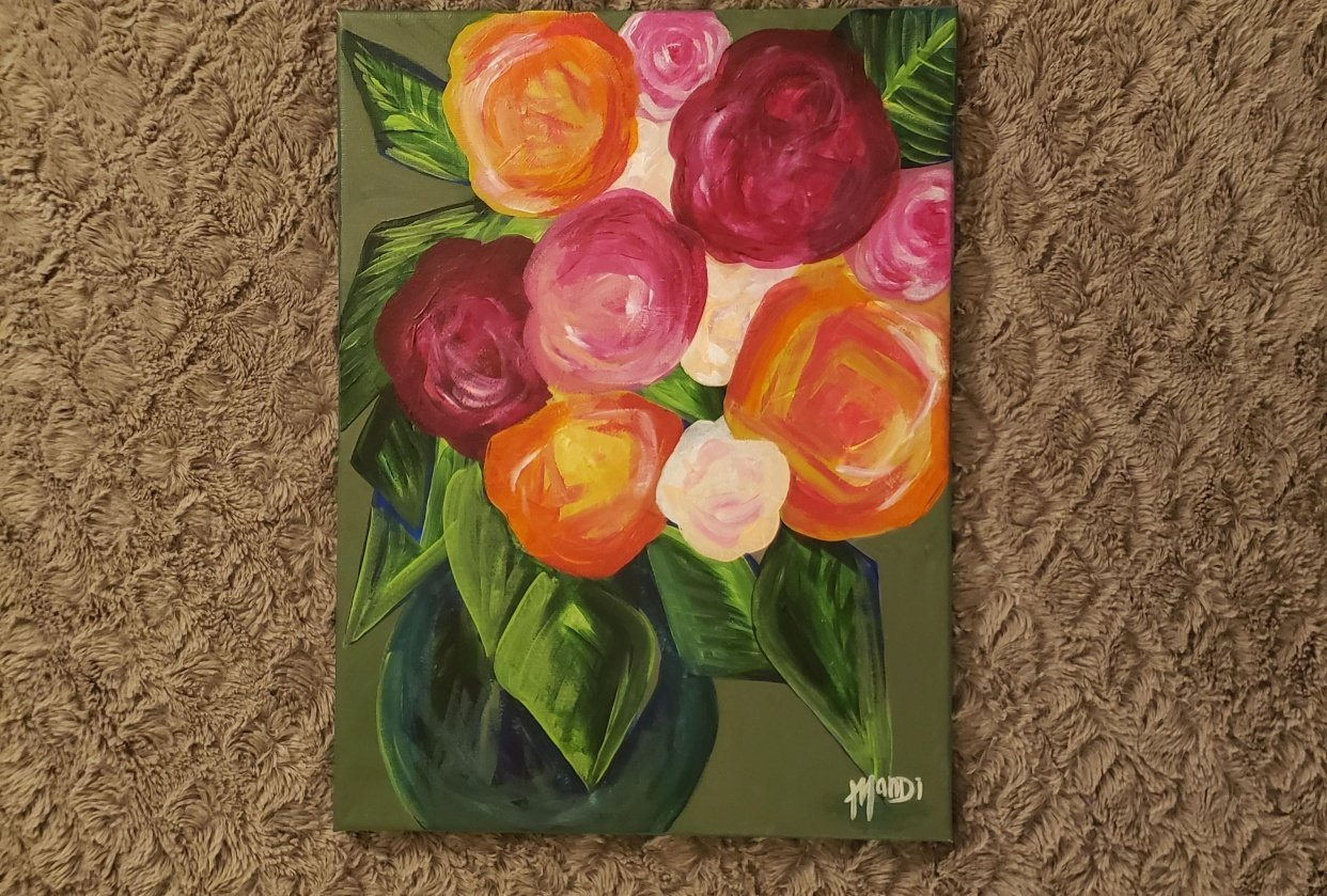 Abstract flower arrangement - student project