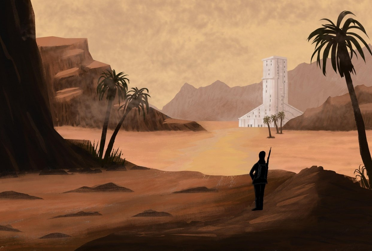 Desert Concept Painting - student project