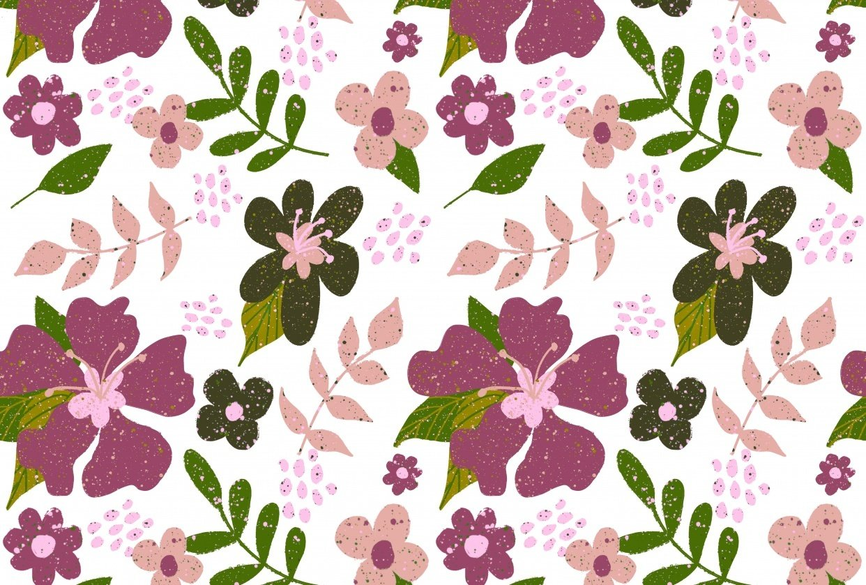 Floral repeat pattern - student project