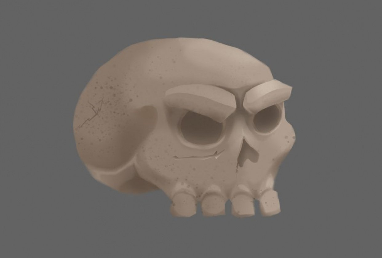 Skull and Tree project - student project