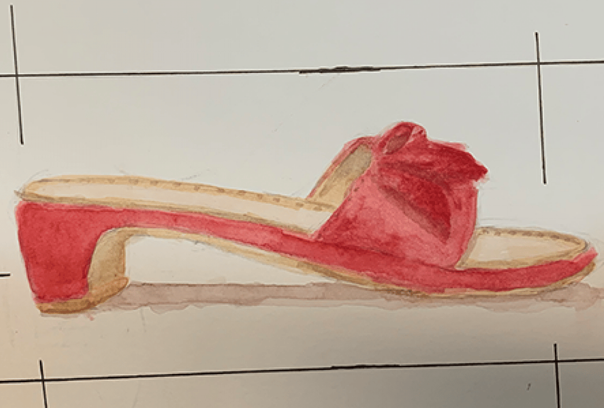 Basic Watercolor Painting: One of the Shoes I Want to Own Someday - student project