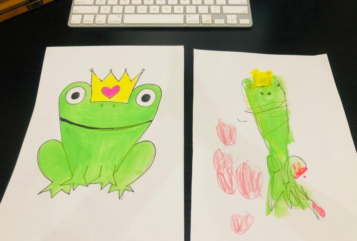 Frog Prince with my daughter - student project