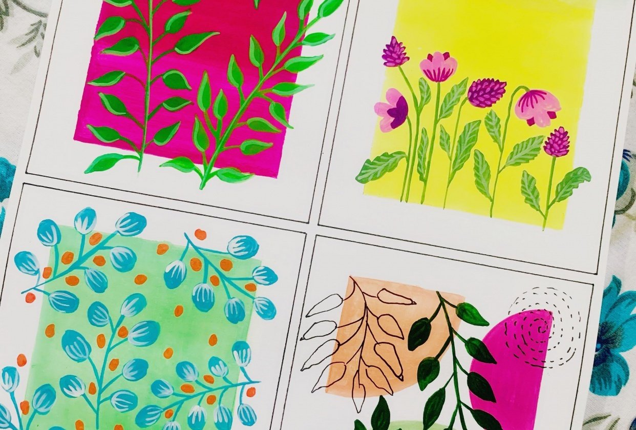 Pattern Paintings - student project
