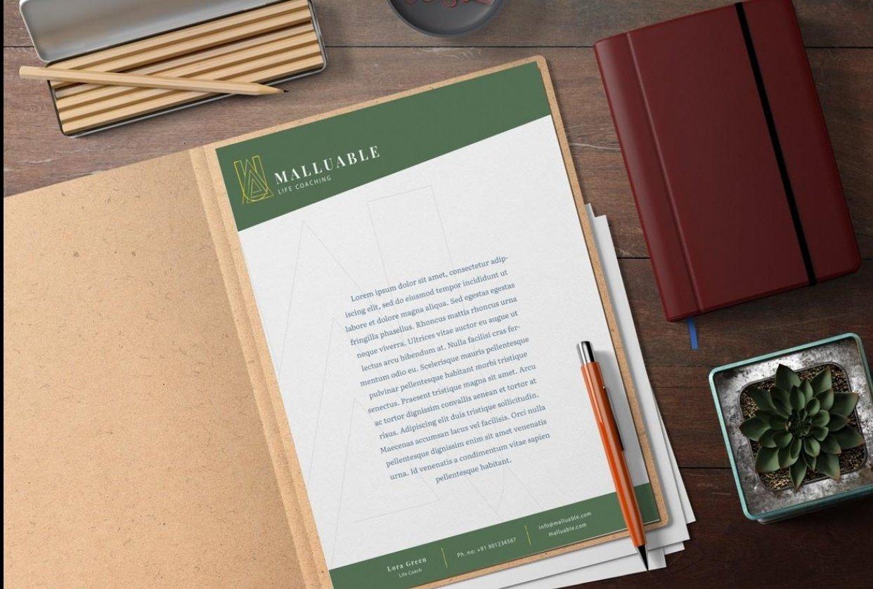 Malluable Letterhead - student project