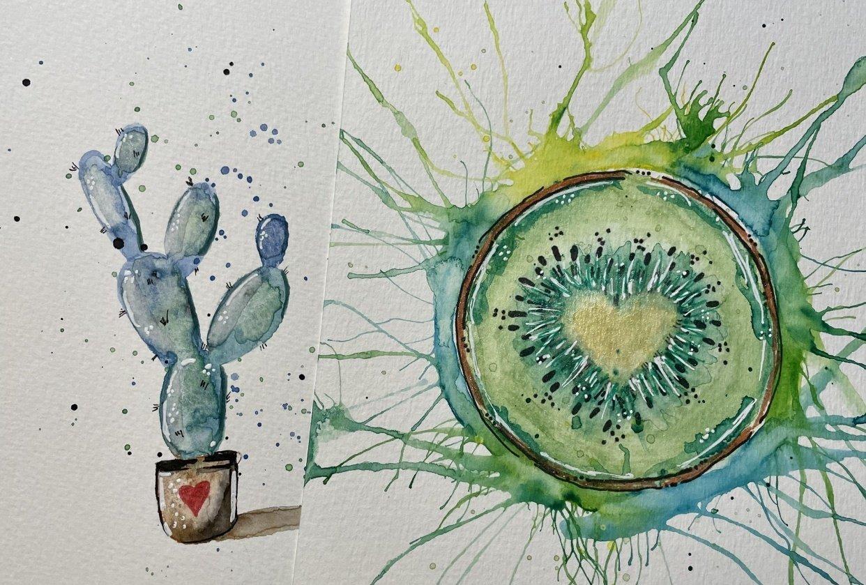 Cactus & Kiwi & Wildflowers - student project