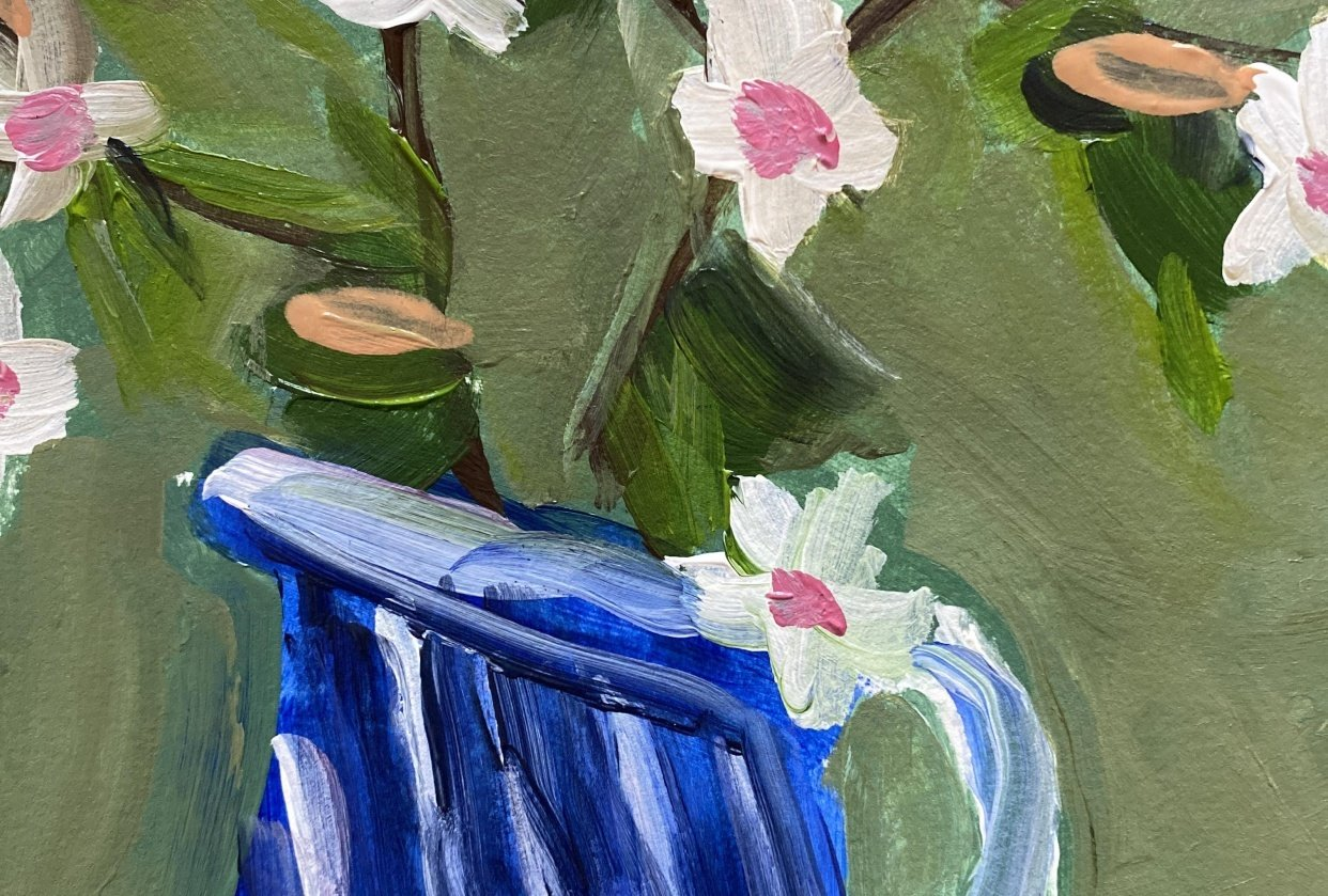 Blue Vase - student project