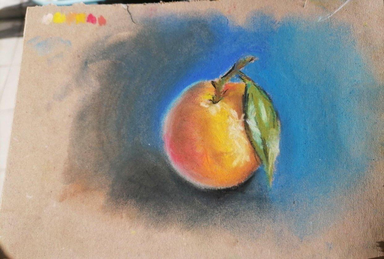 Soft pastel orange - student project