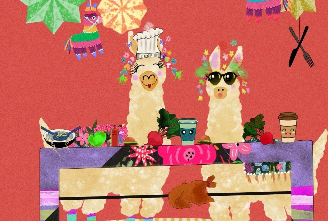 Mr and Mrs Deli llama - student project