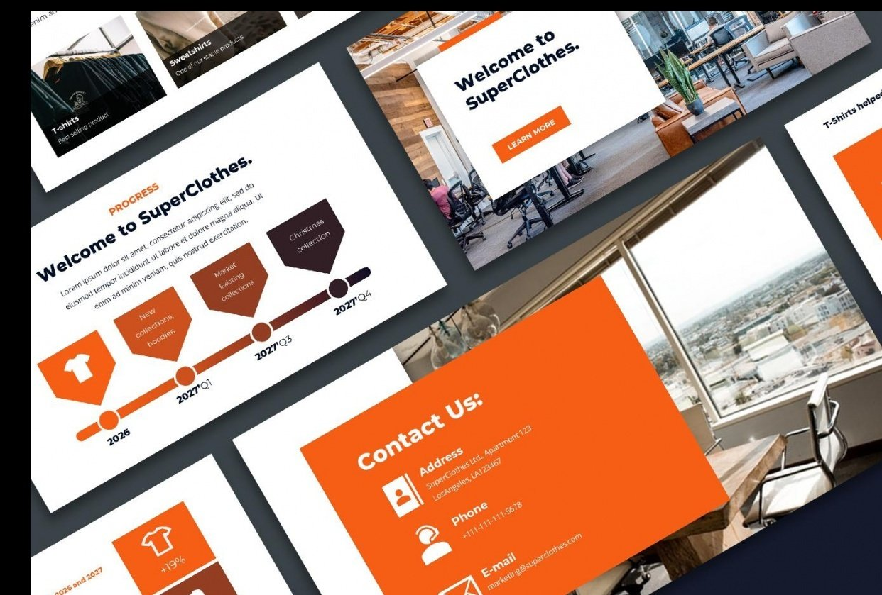 Fire-orange slides! - student project